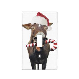 Christmas donkey - santa donkey - donkey santa light switch cover