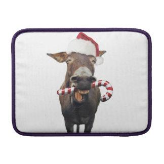 Christmas donkey - santa donkey - donkey santa sleeve for MacBook air