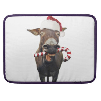 Christmas donkey - santa donkey - donkey santa sleeve for MacBooks