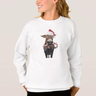 Christmas donkey - santa donkey - donkey santa sweatshirt
