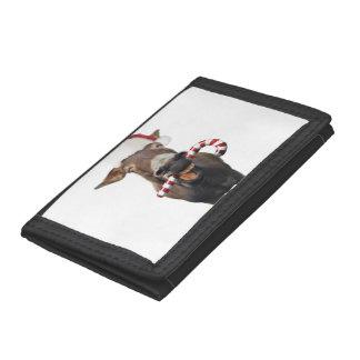 Christmas donkey - santa donkey - donkey santa tri-fold wallet
