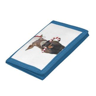 Christmas donkey - santa donkey - donkey santa tri-fold wallets