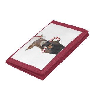 Christmas donkey - santa donkey - donkey santa trifold wallet