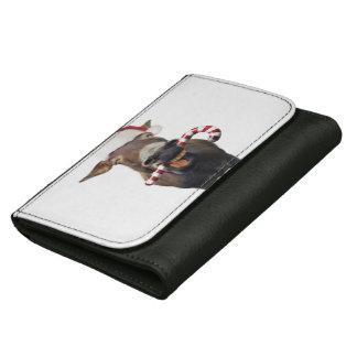 Christmas donkey - santa donkey - donkey santa wallet for women