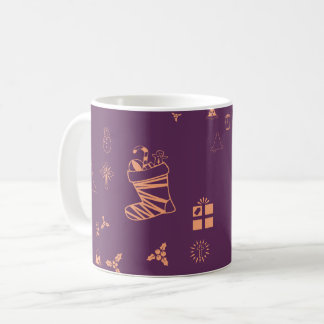 Christmas doodles coffee mug