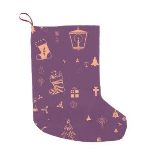 Christmas doodles small christmas stocking