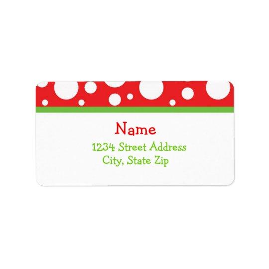 Christmas Dots Address Lables Label