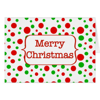 Christmas Dots Merry Christmas Card