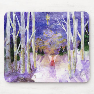 Christmas Dove Angel Mouse Pad