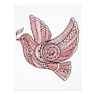 Christmas Dove Letterhead