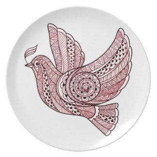 Christmas Dove Plate