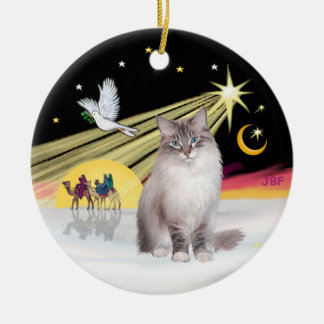 Christmas Dove - Ragdoll Cat (Lynx Colorpiont) Ceramic Ornament