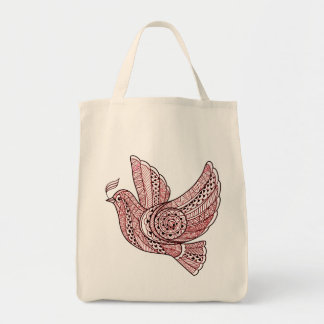 Christmas Dove Tote Bag