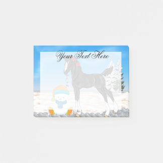 Christmas Draft Foal and Snowman Post-it Notes