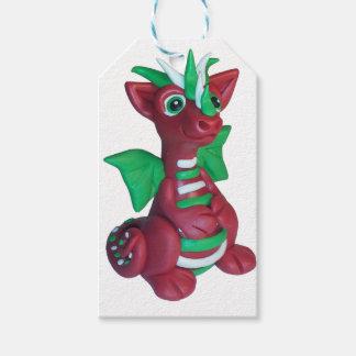 Christmas dragon gift tag pack of gift tags