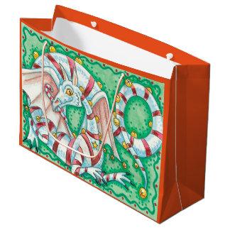 Christmas Dragon Large Gift Bag