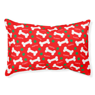 Christmas Dreams Add Your Dog's Name Pet Bed