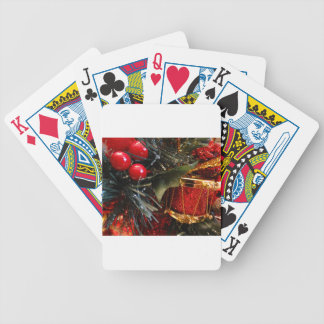 Christmas Drum with Berries Bicycle Playing Cards