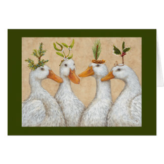 Christmas ducks card