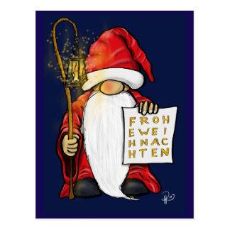 Christmas dwarf postcard