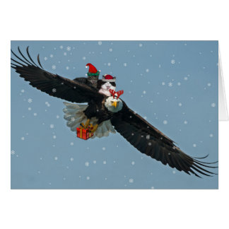 Christmas Eagle with Asio and Otis Card