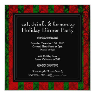Christmas Eat, Drink and Be Merry  Party  Invite