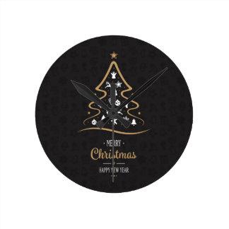 Christmas Elegant Premium Black Gold Clocks