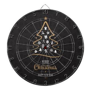 Christmas Elegant Premium Black Gold Dartboard