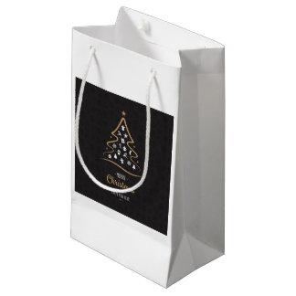 Christmas Elegant Premium Black Gold Small Gift Bag