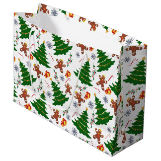Christmas elements large gift bag