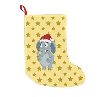 Christmas elephant cartoon small christmas stocking