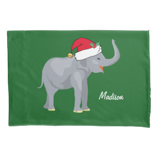 Christmas Elephant Pillowcase