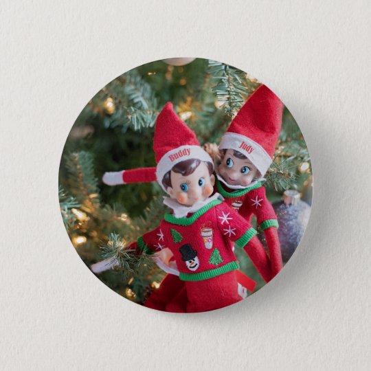 Christmas Elf 2 Inch Round Button