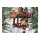 Christmas Elf at North Pole  Greeting Card