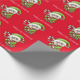Christmas Elf Baby's 1st Christmas Wrapping Paper