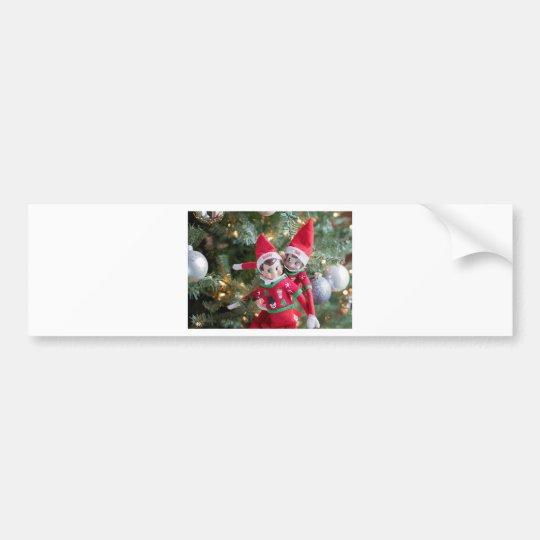 Christmas Elf Bumper Sticker