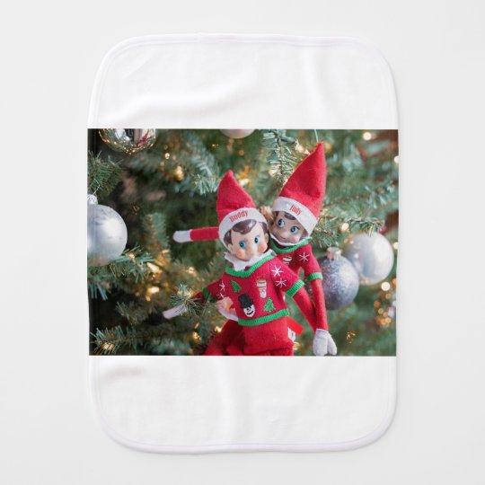 Christmas Elf Burp Cloth