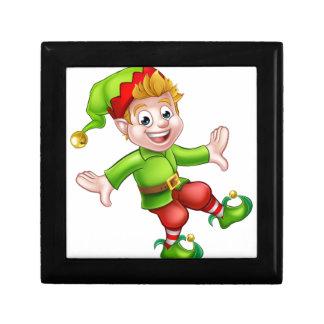 Christmas Elf Cartoon Character Jewelry Box