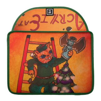 Christmas Elf Cat Sleeve For MacBook Pro