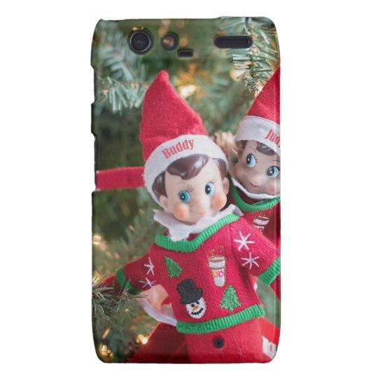 Christmas Elf Droid RAZR Cases