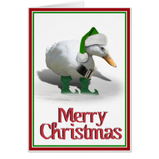 Christmas Elf Duck - Santa's Helper Card