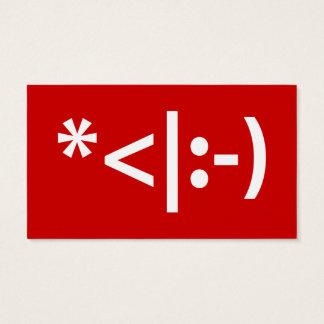 Christmas Elf Emoticon Xmas ASCII Text Art Business Card