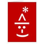 Christmas Elf Emoticon Xmas ASCII Text Art Greeting Card