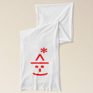 Christmas Elf Emoticon Xmas ASCII Text Art Scarf
