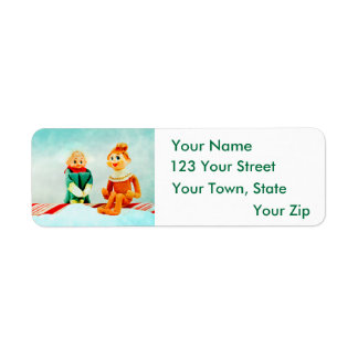 Christmas Elf First Date Return Address Label