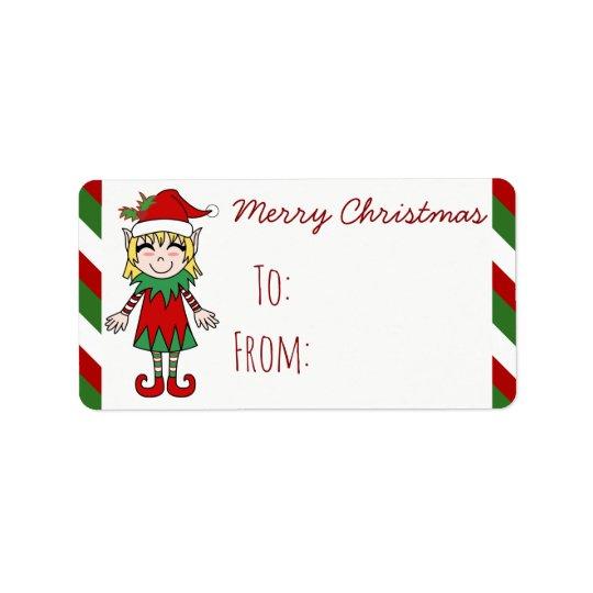 Christmas Elf Girl Merry Christmas Gift