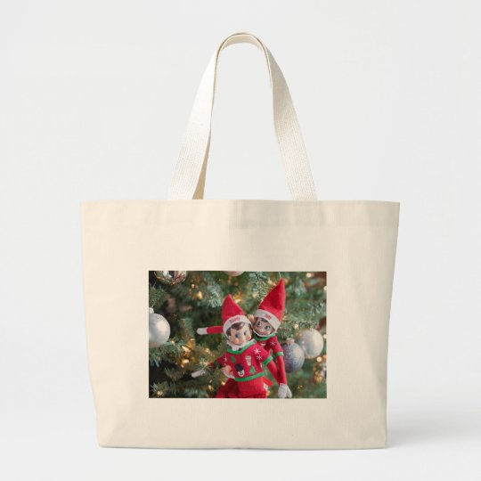 Christmas Elf Large Tote Bag