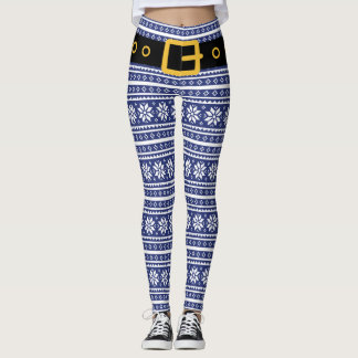 Christmas elf leggings for funny costume outfit