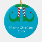 Christmas Elf Legs Ornament