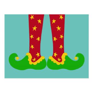Christmas Elf Legs Postcard
